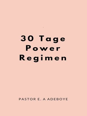cover image of 30 Tage Power Regimen