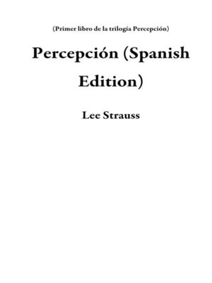 cover image of Percepción (Spanish Edition)