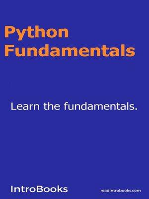 cover image of Python Fundamentals