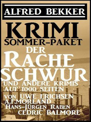 cover image of Krimi Sommer Paket 2018