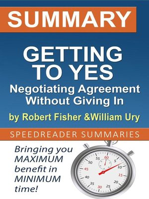 cover image of Summary of Getting to Yes