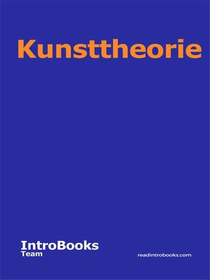 cover image of Kunsttheorie