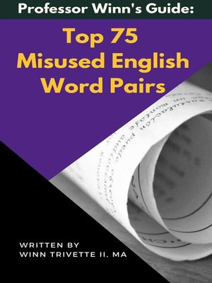 cover image of Top 75 Misused English Word Pairs