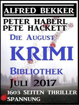 cover image of Die August Krimi Bibliothek