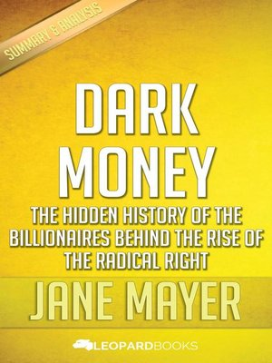 cover image of Dark Money by Jane Mayer