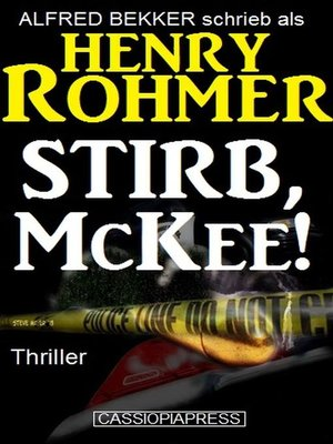 cover image of Stirb, McKee! Thriller