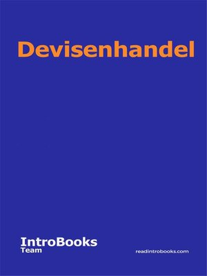 cover image of Devisenhandel