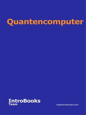 cover image of Quantencomputer