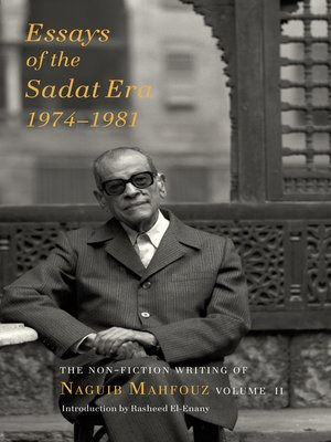 cover image of Essays of the Sadat Era