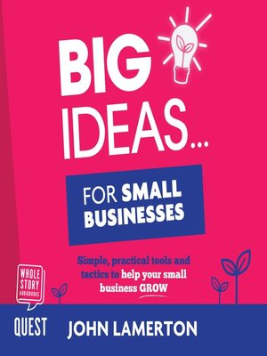 cover image of Big Ideas... for Small Businesses