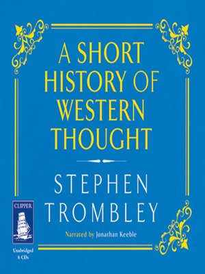cover image of A Short History of Western Thought