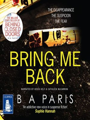cover image of Bring Me Back
