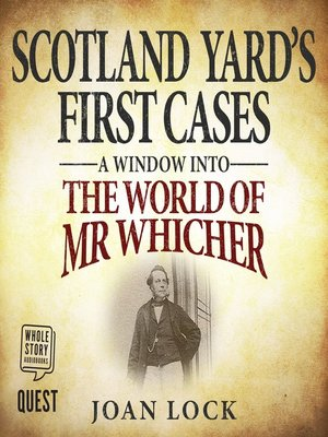 cover image of Scotland Yard's First Cases