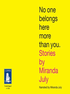 cover image of No One Belongs Here More Than You