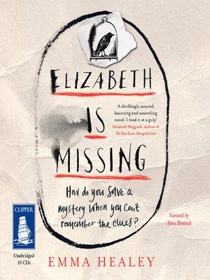 cover image of Elizabeth is Missing