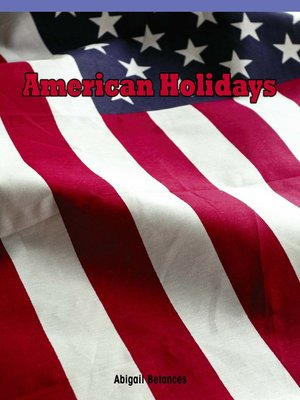 cover image of American Holidays
