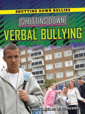 cover image of Shutting Down Verbal Bullying