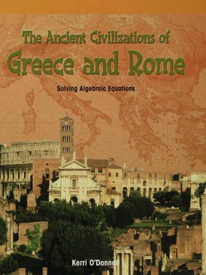 cover image of The Ancient Civilizations of Greece and Rome