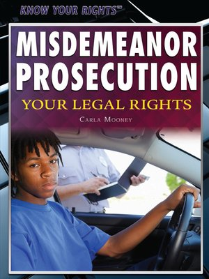 cover image of Misdemeanor Prosecution