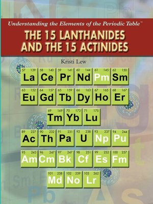 cover image of The 15 Lanthanides and the 15 Actinides