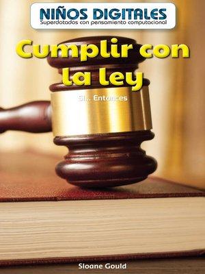 cover image of Cumplir con la ley
