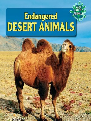 cover image of Endangered Desert Animals
