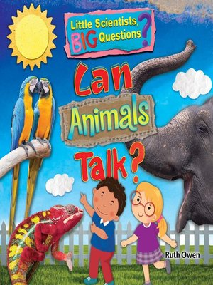 cover image of Can Animals Talk?