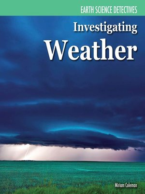 cover image of Investigating Weather