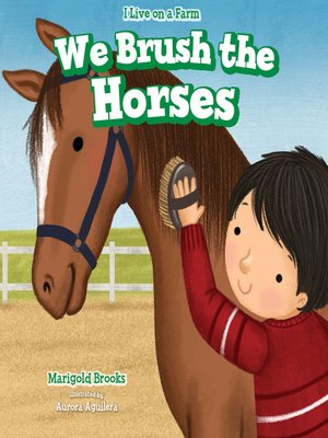 cover image of We Brush the Horses