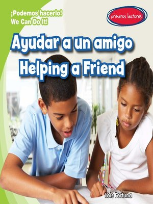 cover image of Ayudar a un amigo (Helping a Friend)