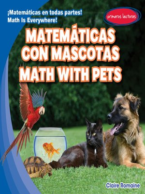 cover image of Matemáticas con mascotas / Math with Pets