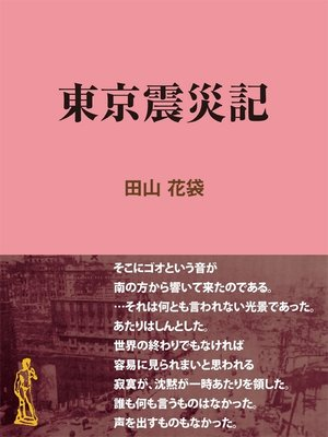 cover image of 東京震災記