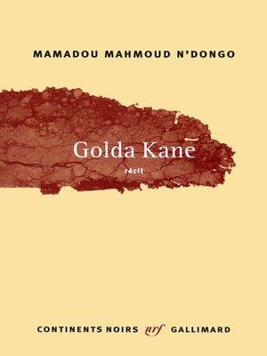 cover image of Golda Kane