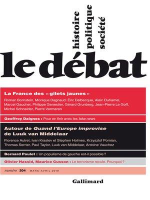 cover image of Le Débat N° 204 (mars- avril)