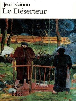 cover image of Le Déserteur et autres récits