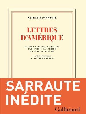 cover image of Lettres d'Amérique