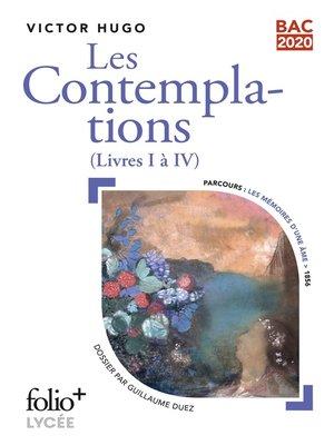 cover image of Les Contemplations, livre I à IV--BAC 2020