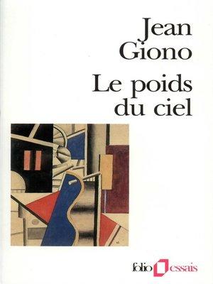 cover image of Le poids du ciel