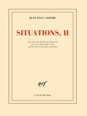 cover image of Situations (Tome 2)--Septembre 1944--décembre 1946