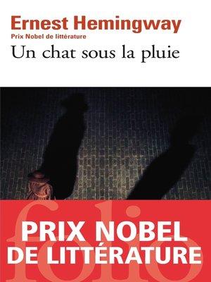 cover image of Un chat sous la pluie et autres nouvelles / La cinquième colonne