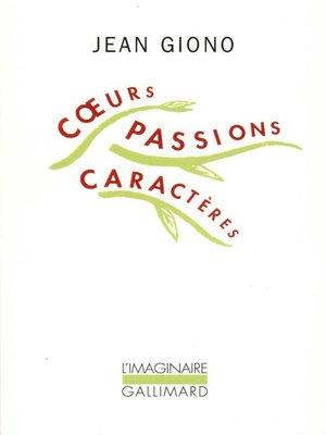 cover image of Cœurs, passions, caractères
