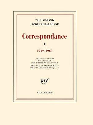 cover image of Correspondance (Tome 1