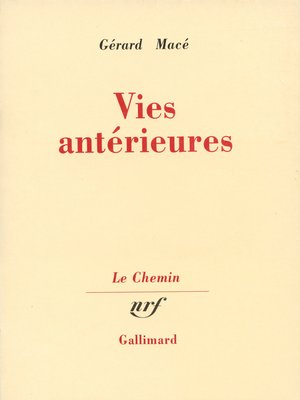 cover image of Vies antérieures