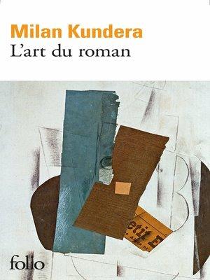 cover image of L'art du roman