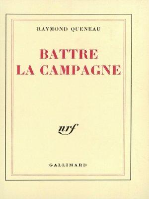 cover image of Battre la campagne