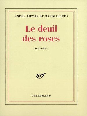 cover image of Le deuil des roses