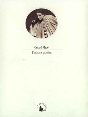 cover image of L'art sans paroles