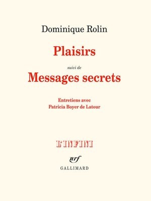 cover image of Plaisirs / Messages secrets