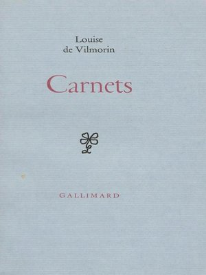 cover image of Carnets
