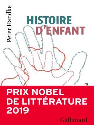 cover image of Histoire d'enfant